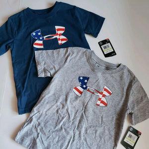 2 Under Armour size 4 t shirt bundle American logo